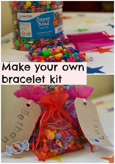 Make your own bracelet kit #stockingfillers #partyideas