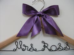 1200 Wire Bridal Dress HangerPersonalized / by FancyWireHangers, via Etsy.