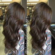 Are you looking for dark chocolate hair color for brunettes balayage? See our collection full of dark chocolate hair color for brunettes balayage and get inspired! Hair Color And Cut, Hair Color Dark, Brown Hair Colors, Hair Colour, Cabello Color Chocolate, Dark Chocolate Hair Color, Chocolate Blonde, Chocolate Makeup, Chocolate Highlights