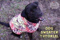 Dog Fleece Sweater Tutorial - Here's a link to her blog page.  Her instructions look super easy & fast to make!