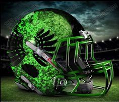 For the Ducks? Football Helmet Design, Football Rules, College Football Helmets, Sports Helmet, Football Gear, Football Uniforms, Oregon Ducks Football, Ohio State Football, American Football