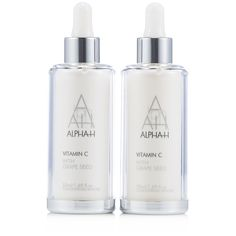 216372 - Alpha-H Supersize Vitamin C Serum 50ml Duo  QVC PRICE: £55.00 + P&P: £3.95 This duo features two supersize versions of Alpha-H's all-in-one face serum, which is formulated with vitamin C and other powerful antioxidants. Designed to maintain your skin's natural collagen production, improve the appearance of skin elasticity and radiance while reducing the look or pores and pigmentation.