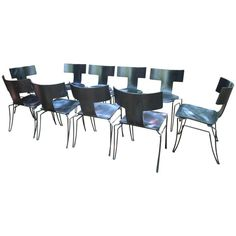 Set of Ten Klismos Chairs by John Hutton for Donghia Communal Table, Mid Century Modern Furniture, Dining Room Chairs, Interior Design Inspiration, Mid-century Modern, Antiques, Home, Galleries, Houston