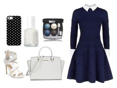 """Elegant blue look"" by dadacookie on Polyvore featuring Alice + Olivia, GUESS, Michael Kors, Uncommon, Essie and Chanel"