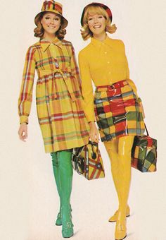 *February 1968.'Talk about big plaids… these are... - Just Seventeen