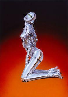 Hajime Sorayama's Super Realistic Retro-Futuristic World Hajime Sorayamas superrealistische retro-futuristische Welt Cyberpunk Kunst, Cyberpunk Girl, Futuristic Robot, Drawn Art, Airbrush Art, Science Fiction Art, Robot Art, Expo, Sci Fi Art