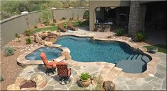 Modern swimming pool design does not constantly mean that a pool was built lately or has all of one of the most high-tech features as well as materials. Modern pool design go back to California in the Small Swimming Pools, Small Backyard Pools, Small Pools, Swimming Pools Backyard, Outdoor Pool, Lap Pools, Indoor Pools, Pool Decks, Sloped Backyard