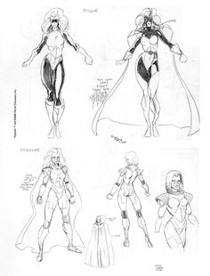 Psylocke redesign sketches by Art Adams, circa. Marvel Art, Marvel Heroes, Marvel Comics, Comic Artist, Artist Art, Comic Character, Character Design, X Men, Jim Lee Art