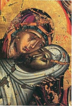 Weep not for me, O Mother, beholding in the sepulcher the Son whom thou hast… Religious Images, Religious Icons, Religious Art, Byzantine Icons, Byzantine Art, Russian Icons, Catholic Art, Art Icon, Orthodox Icons