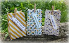 Mini Treat Bags, Stampin' Up! #sosocial, moonlight dsp details at www.midmostamping.com