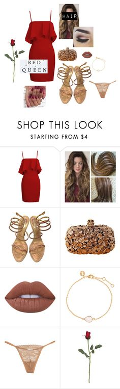 """""""Red Queen"""" by itsmealexia ❤ liked on Polyvore featuring René Caovilla, Alexander McQueen, Lime Crime, Accessorize and La Perla"""