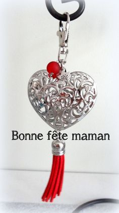 """Bijou de sac, grigri, Lili et Ma* Créations """"Coeur de bonheur"""" : Porte clés par lili-et-ma-creations"""