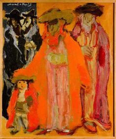 Sabbath Walk or On the Way to Synagogue (Aries), Mane Katz, 1954. Shabbat Shalom :)