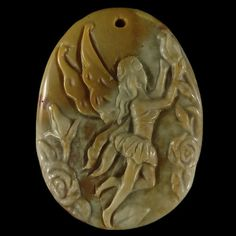 BE03122 Stunning  Natural Hand Carved Fairy  art  by Artiststone