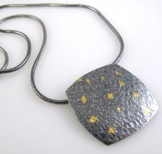 Silver and Gold Keum Boo Necklace Roller Printed StudioNaftali