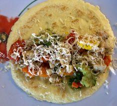 Naleśniki zapiekane z mięsem i warzywami - Blog z apetytem Quiche, Tacos, Food And Drink, Mexican, Breakfast, Ethnic Recipes, Blog, Pierogi, Cement