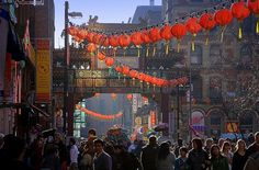 Can remember the first Chinese restaurants in Manchester.  Now there is Chinatown: Manchester, England