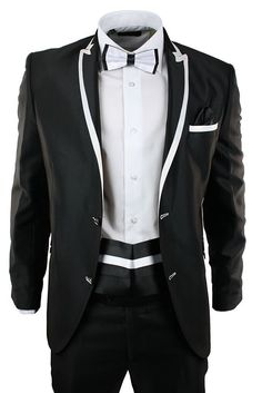 Black and White Men's Suits | mens suits