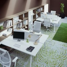 DODICI working office desk by Prof Office Office Space Design, Workspace Design, Bureau Design, Open Office, Study Office, Office Inspo, Office Decor, Decor Interior Design, Interior Styling