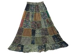 Maxi Skirt Sheen Green Floral Printed Patchwork Gypsy Skirts Mogul Interior,http://www.amazon.com/dp/B00FS97LPK/ref=cm_sw_r_pi_dp_vx2wsb1RANYQZ9QR