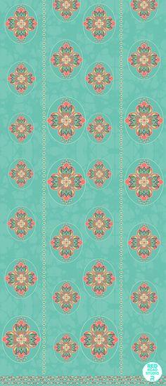 Vintage Ogee Pattern #paisley #green