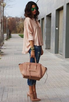 Office lady style, nude! @HeeledShoes  If you like this picture - follow my pinterest @MuteFashion Official or visit my official blog: http://mutefashion.com/