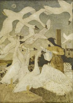 The Wild Swans, Arthur Joseph Gaskin, 1928 by Birmingham Museum and Art Gallery on Flickr