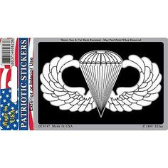 DECAL, US ARMY PARACHUTIST WINGS