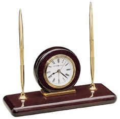 Howard Miller 613588 Rosewood Desk Set Table Clock -- You can get additional details at the image link. (This is an affiliate link and I receive a commission for the sales)