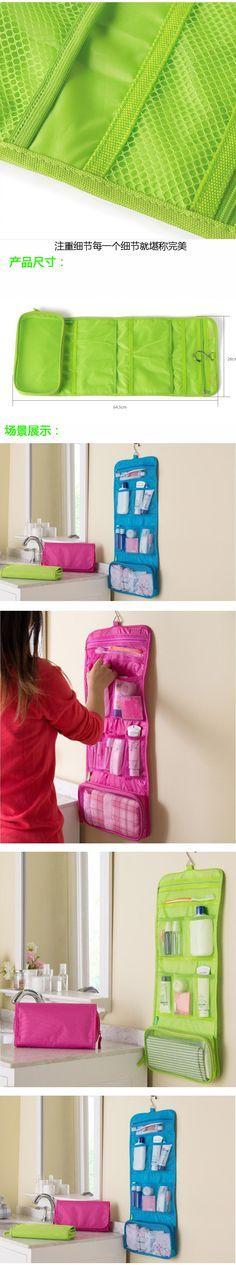 Grátis frete sacos cosméticos grande capacidade saco de lavagem exterior enforcamento cosméticos armazenamento viagem classificação sacos em Estojo de maquiagem & cases de Mochilas & bagagem no AliExpress.com | Alibaba Group