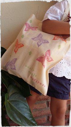 Bolsas de algodón personalizables para niñas.  Tote bags for Girls.