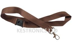 20mm Wide Lanyard with Safety Break Away and Metal Clip (Coca brown)