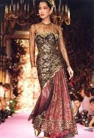 Anna Bayle for Christian Lacroix Haute Couture Fashion Show, Fall/winter 1989