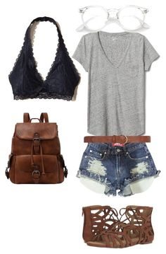 """bralette outfit"" by mauktori on Polyvore featuring Hollister Co., Gap, Dorothy Perkins and Unlisted by Kenneth Cole"