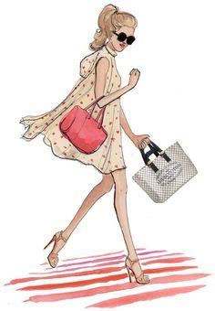 Louis Vuitton handbag Illustration - Louis Vuitton Cabas PM Damier Azur Canvas N41179