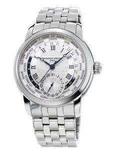 Frederique Constant Classic Manufacture Worldtimer is an ideal watch for  travelers, especially business travelers. The watch features a time display  with a ... 485a2c59b54