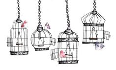 birds, cages, and freedom!