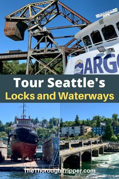 Seattle's Ballard Locks are one of the city's most popular tourist attractions. I recommend touring the Ballard Locks by boat with Argosy Cruises. You'll not only get the chance to experience this Boat Elevator first hand, but it's a great way to experience many of Seattle's surrounding waterways. I'll show you what it's all about. #Seattle #BallardLocks #SeattleTours #ArgosyCruises Cruise Excursions, Cruise Port, Canada Travel, Usa Travel, Fremont Bridge, Road Trip Adventure, Local Tour, Us Travel Destinations, Tourist Spots