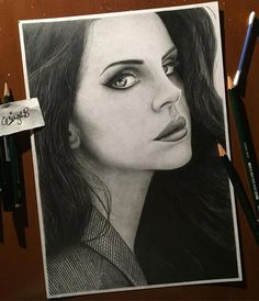 WANT A FREE FEATURE ?   CLICK LINK IN MY PROFILE !!!    Tag  #LADYTEREZIE   Repost from @g_singh_b   And we're done! Feel free to tag @lanadelrey in this drawing if you'd like :) Have to say that this portrait was a change of pacing from my last two for sure only because I couldn't get the face as smooth as it appeared in the reference and also the fact that it takes a lot less of the paper than the others did making it harder to squeeze the details in. Thank you all for the support as…