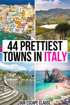 Looking for the prettiest villages and towns in Italy? small towns in italy European Vacation, Italy Vacation, European Travel, Vacation Spots, Beautiful Places To Visit, Cool Places To Visit, Places To Travel, Places To Go, Italy Travel Tips