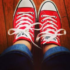 Red converse. #converse #allstar #redshoes