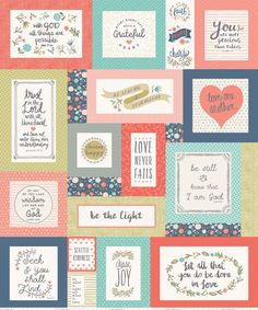 Heart and Soul Quilt Size Panels