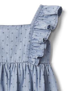 Floral Chambray Flutter Dress | Gap