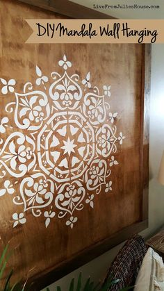 DIY Mandala Wall Hanging | Live From Julie's House - Featured on #HomeMattersParty 103