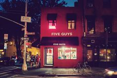 Photo du Five Guys de Bleecker st New York City par Brice Mercier
