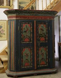 Trend Tom notes that solid looking pieces like this Baroque vernacular cabinet can often