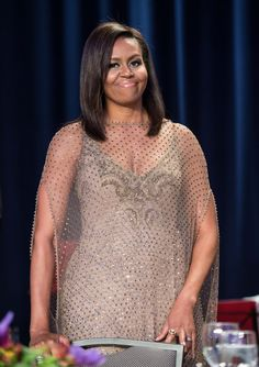Michelle Obama's Sheer WHCD Dress Is Definitely 1 For the History Books
