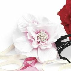 Large White / Pink Tones Flower Motif Stretch Headband Forehead Band - Other Colours Available Pritties Accessories. $7.99