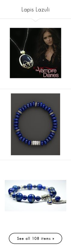 """Lapis Lazuli"" by adorablequeen ❤ liked on Polyvore featuring jewelry, necklaces, lazuli, lapis lazuli necklace, lapis lazuli jewelry, lazuli jewelry, men's fashion, men's jewelry, men's bracelets and blue"