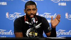 Kyrie Irving dons tactile audio wearable before Game 7. Cavaliers guard Kyrie Irving used an in-ear device called subpac to help him prepare for Game 7. Irving Nba, Kyrie Irving, Matthew Dellavedova, Nba Finals Game, Andre Iguodala, Game 7, Artificial Intelligence, Lebron James, Virtual Reality